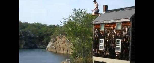 Cliff Jumping at a Granite Quarry
