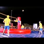 Bossaball = Soccer + Volleyball + Gymnastics
