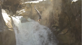 Cole Melin 115 Foot Bridge Waterfall Jump
