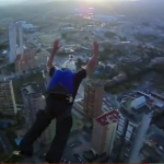 Guerilla Elevator BASE Jumping in Spain