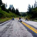 55+mph Gut-Wrenching Tricycle Racing