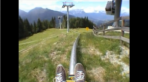 The Mieders Alpine Coaster in Austria
