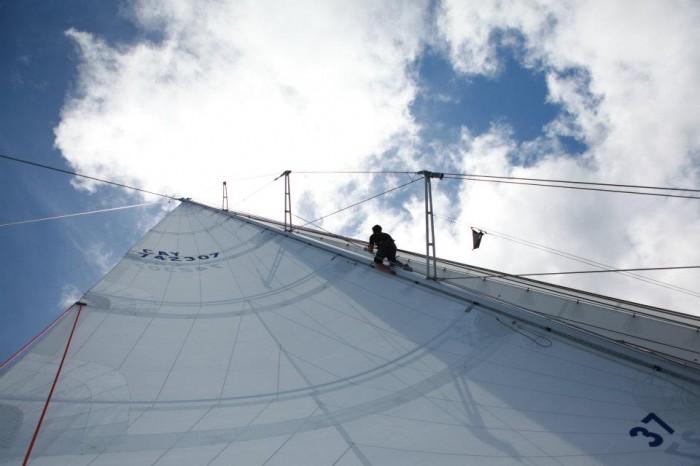 Dave Cornthwaite Climbs Mast