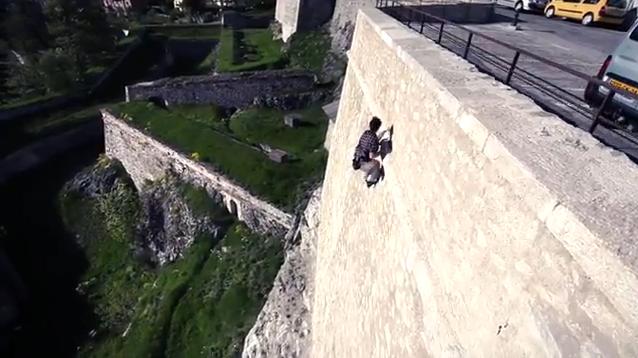 Manu Romain Urban Climbing
