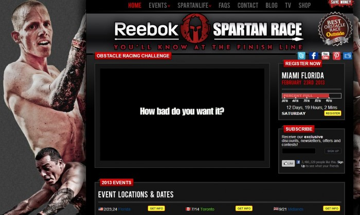 reebok spartan race partnership