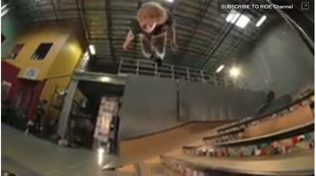 Youtube 6-Stair Backflip, on a Skateboard