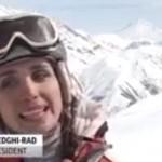 Skiing in Dizin, Iran