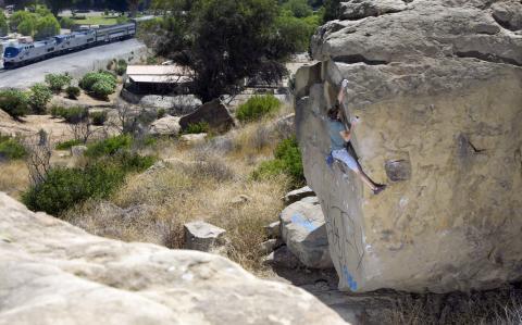 chouinard's hole rock climbing los angeles