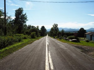 THE ROAD SOMEWHERE IN UPSTATE NEW YORK (PHOTO CRED: RICHARD CAMMETT)