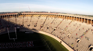 november project harvard stadium aerial drone footage