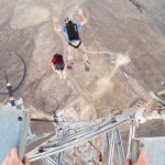 Epic BASE Jump: 9 Front Flips Off A Tower