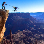 BASE Jumping At Utah's Fisher Towers