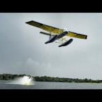 Barefoot Airplane Waterskiing