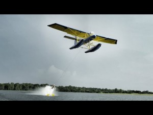 airplane-waterskiing